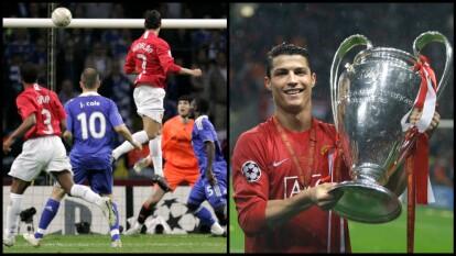 Cristiano Ronaldo jugó su primera Final de UEFA Champions League, anotó gol, falló un penal en la tanda decisiva y se proclamó campeon, fue una noche tormentosa pero memorable para él.