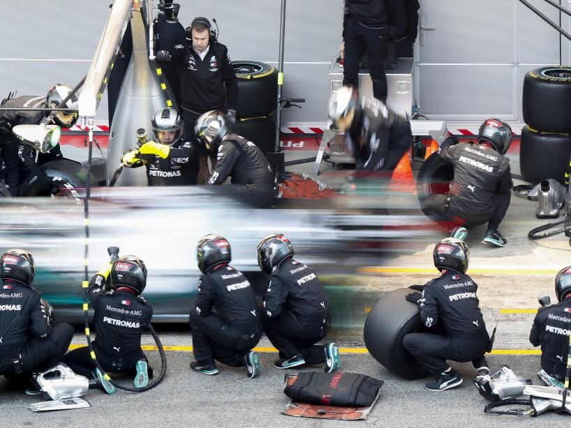 APTOPIX Spain F1 Pre Season Testing