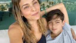 """""""Miren lo que me encontré"""": Grettell Valdez vive emotivo reencuentro con su hijo Santino"""