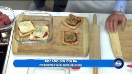 ¡Cocina deliciosas mini pizzas Boloñesas!