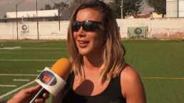 ¡Mariazel como nunca la habías visto!: Así juega tochito bandera