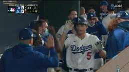 ¡La prendió! Seager se la bota para la cuarta carrera de Dodgers