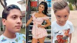 Kimberly Flores se convierte en la cómplice de sus hijos y les cumple el sueño de teñirse el cabello
