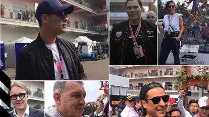Las celebridades se dieron cita para ser testigos del Gran Premio de México.
