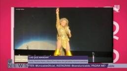 Thalía y Paulina Rubio dieron de qué hablar en concierto