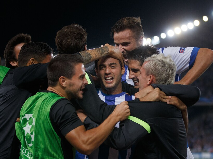 Real Sociedad v Olympique Lyonnais - UEFA Champions League Play-offs: Second Leg
