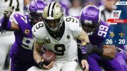 ¡No hubo milagro en New Orleans! Vikings elimina a Saints