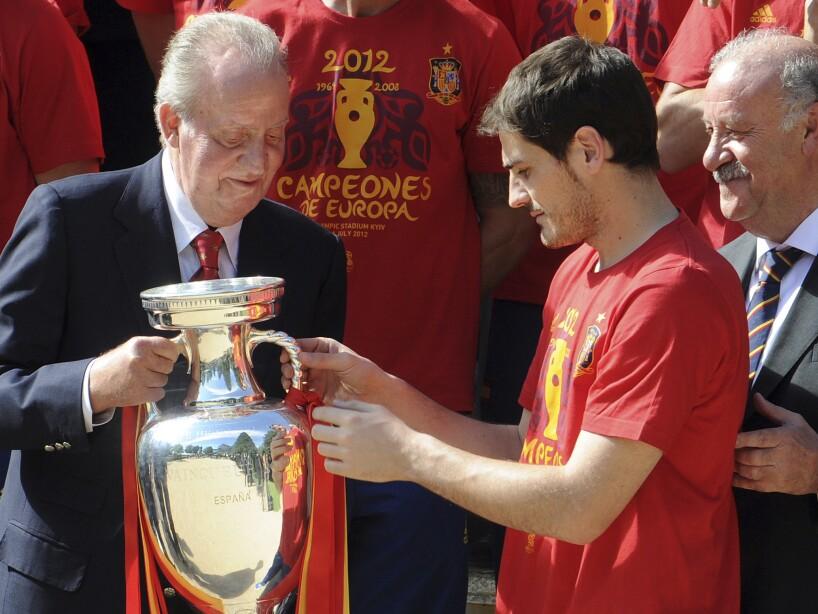 Iker Casillas, King Juan Carlos, Vicente del Bosque