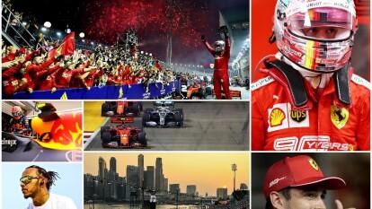 Sebastian Vettel logró su primera victoria del año en el GP de Singapur.