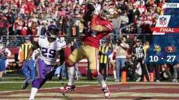 Los 49ers superan a Vikings y vuelven al juego por el título de la NFC