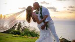 La boda secreta de 'La Roca' y Lauren Hashian