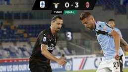 La Lazio se hunde ante el Milan de Zlatan Ibrahimovic