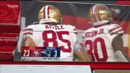 ¡Es una paliza! Wilson logra un TD de 16 yardas para los 49ers