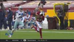 ¡Presume su brazo! Allen encuentra a McLaurin para un TD de 52 yardas