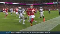 Mahomes corre y anota el segundo TD para los Chiefs