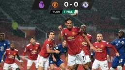 Cavani  debutó con el Manchester United, pero empataron con el Chelsea