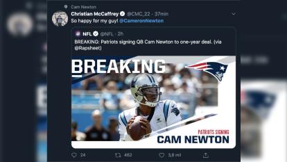 El acuerdo entre Cam y New England generó mucha expectativa en el mundo en la NFL.