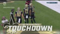 ¡Se despega Saints! Otro touchdown de Tre'Quan Smith ante Buccaneers