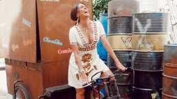 ¿Andar en bici con tacones de más de 15 centímetros? ¡Solo Galilea Montijo!