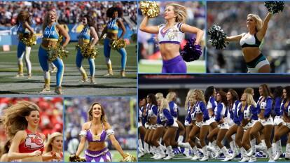 Las cheerleaders motivan a sus equipos con sus porras y coreografías en los estadios de la NFL.