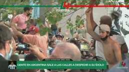 Seguidores de Maradona acuden a la morgue sin medidas anti-Covid 19