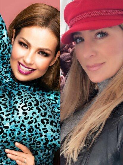 Thalía, Geraldine Bazán, Dulce María y más famosas que se unieron al reto #10yearchallenge y sorprendieron con su cambio físico.