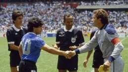 ¡Precioso homenaje! Árbitro de 'la mano de Dios' regresó a pitar en honor a Maradona