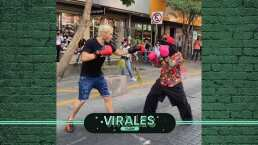 Chávez JR. pelea con un 'chango' en la calle