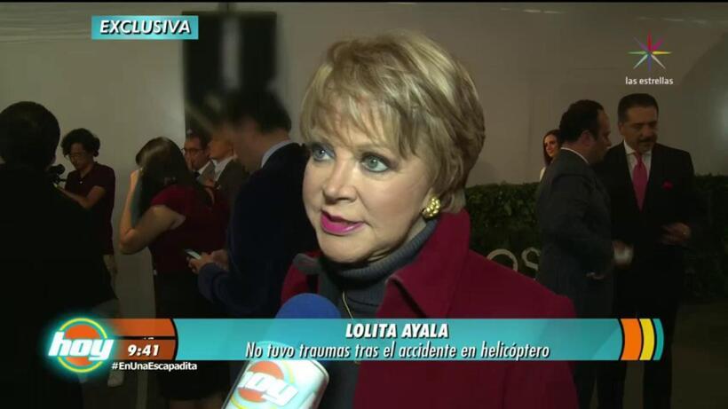 Lolita Ayala revive accidente aéreo
