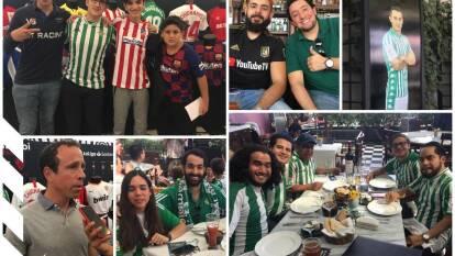 Gran ambiente en la Ciudad de México para vivir 'El gran Derbi' entre el Betis y el Sevilla.