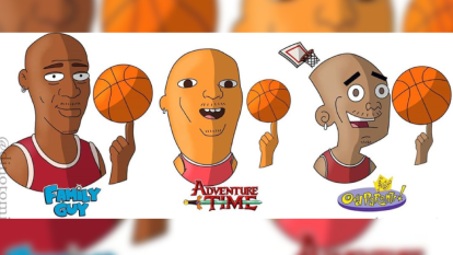 DinoTomic es un artista gráfico que dibuja diferentes personajes imaginando cómo se verían en diferentes series y caricaturas, esta vez ilustró a Michael Jordan, Scottie Pippen y Dennis Rodman, ex estrellas de Chicago Bulls.