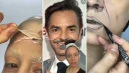 Además de transformarse en Aislinn, también se maquilló como Eugenio Derbez y hasta lo imitó