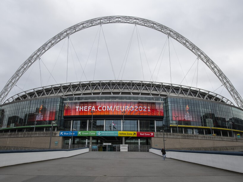 General Views of Wembley Stadium As Euro 2020 Is Postponed Until 2021