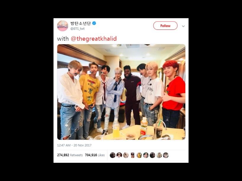 BTS, fotos que se ha tomado con famosos