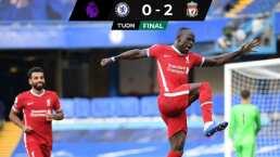 Liverpool pega a domicilio al Chelsea con doblete de Sadio Mané