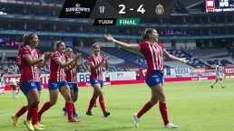 Chivas Femenil mantiene invicto y vence 4-2 a Rayadas