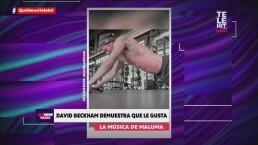 David Beckham entrena con la música de Maluma