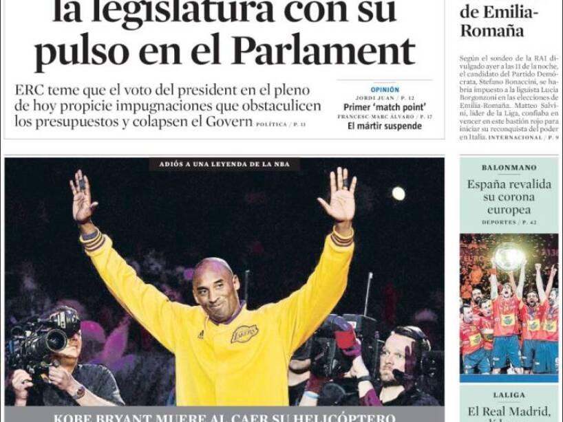 Kobe Bryant, periódico, LA VANGUARDIA.jpg