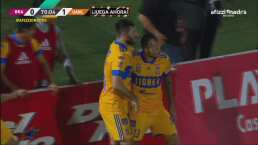 ¡Golazo de Tigres! 'Diente' López pone el 0-1 con cañonazo