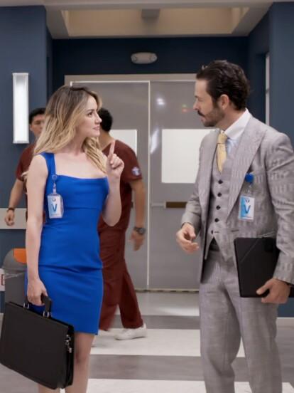 'Victoria' (Altair Jarabo) y 'Roberto' (José María Torre) llegan al Instituto de Especialidades Médicas para ayudar a 'Regina' (Livia Brito) y a 'David' (Daniel Arenas) con sus casos.