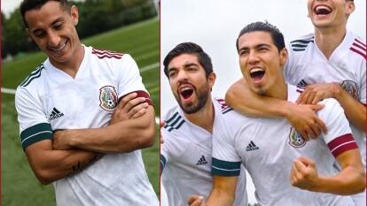 El día de hoy se lanza nueva camiseta blanca con dos franjas rojas y verdes, un par en cada brazo. Definitivamente este diseño es limpio y elegante.