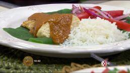 Receta: Pollo encacahuatado con chile morita