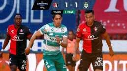 ¡Rescatan el juego en el último suspiro!Atlas y Santos empatan 1-1