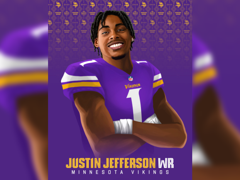 Justin Jefferson, NFL Draft, 1.png