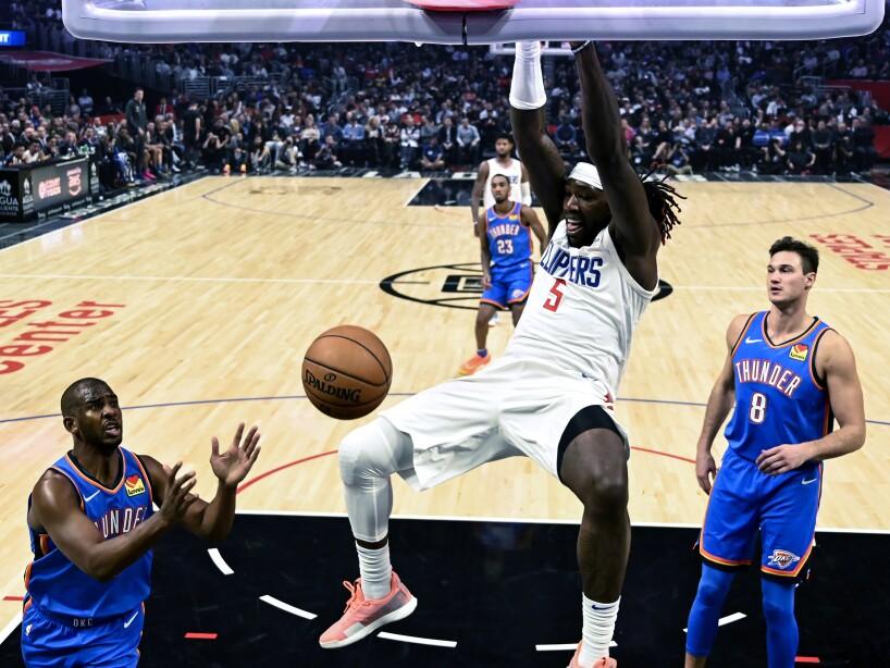 APTOPIX Thunder Clippers Basketball