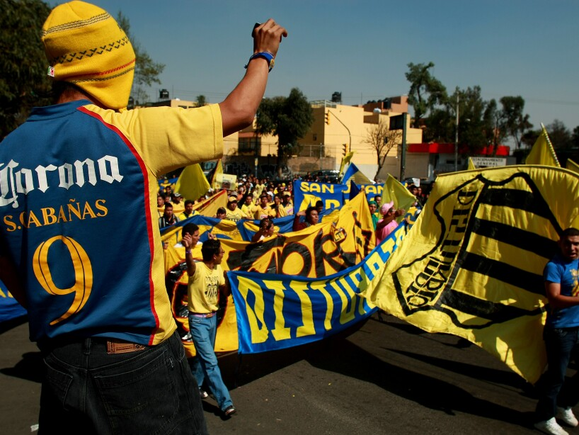Salvador Cabanas Fans Show Their Support At Azteca Stadium