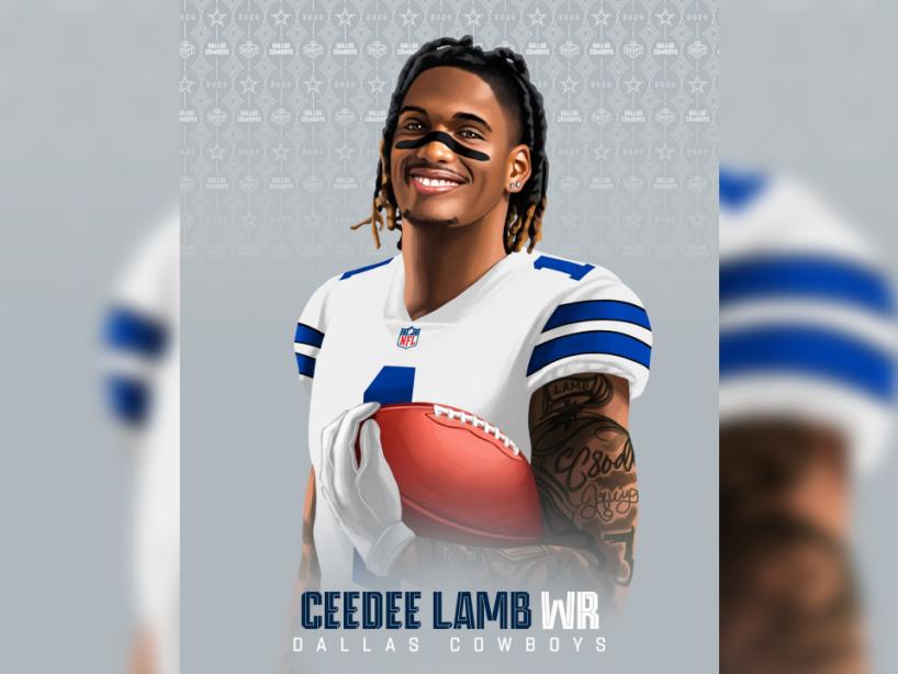 CeeDee Lamb, NFL Draft, 1.png