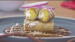 RECETA: Tacos ahogados en mole