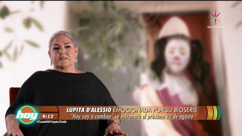 Lupita D´Alessio emocionada por su bioserie