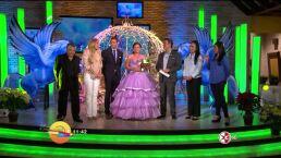 Mitzy regala vestido a Quinceañera en Hoy 19 noviembre 2014